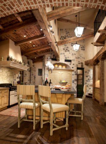 厨房吧台地中海风格装修效果图