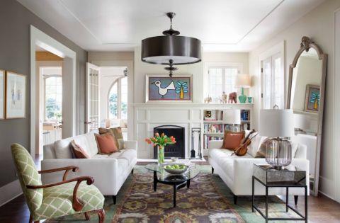 客厅现代风格效果图大全2017图片_土拨鼠美好清新客厅现代风格装修设计效果图欣赏
