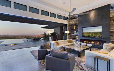 客厅吊顶现代风格装修图片