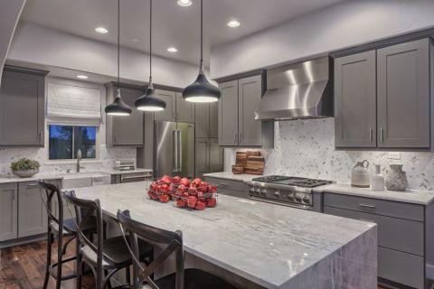 厨房现代风格效果图大全2017图片_土拨鼠美好摩登厨房现代风格装修设计效果图欣赏