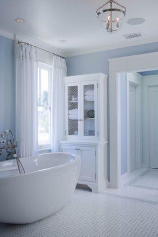 浴室浴缸美式风格装潢设计图片