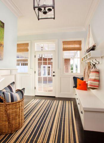 玄关窗帘美式风格装潢设计图片