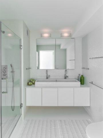 浴室洗漱台现代风格效果图