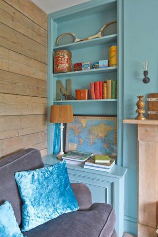 客厅书桌混搭风格装潢效果图