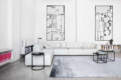 客厅现代风格效果图大全2017图片_土拨鼠典雅个性客厅现代风格装修设计效果图欣赏
