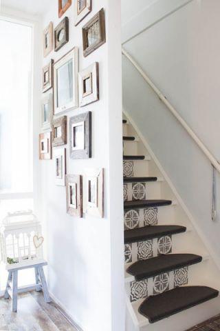 楼梯混搭风格效果图大全2017图片_土拨鼠美感唯美楼梯混搭风格装修设计效果图欣赏