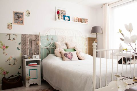 卧室背景墙混搭风格装修图片