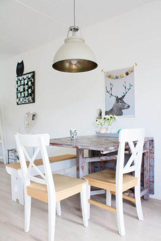 餐厅背景墙混搭风格装饰图片