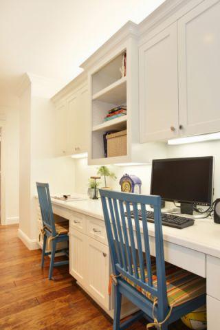 书房书桌美式风格装潢图片