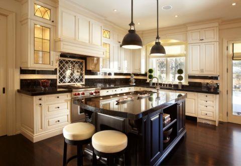 厨房美式风格效果图大全2017图片_土拨鼠浪漫迷人厨房美式风格装修设计效果图欣赏