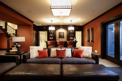 地下室沙发美式风格装修设计图片