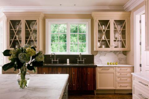 厨房简欧风格效果图大全2017图片_土拨鼠干净写意厨房简欧风格装修设计效果图欣赏