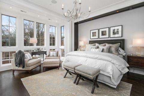 卧室美式风格效果图大全2017图片