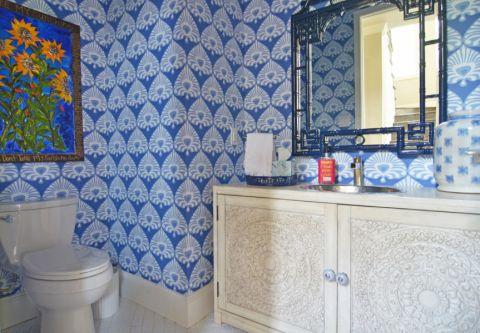 浴室混搭风格效果图大全2017图片_土拨鼠简洁纯净浴室混搭风格装修设计效果图欣赏
