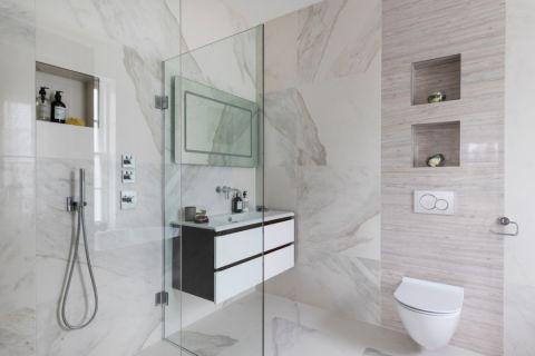 浴室现代风格效果图大全2017图片_土拨鼠潮流优雅浴室现代风格装修设计效果图欣赏