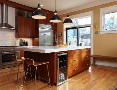 厨房现代风格效果图大全2017图片_土拨鼠文艺休闲厨房现代风格装修设计效果图欣赏