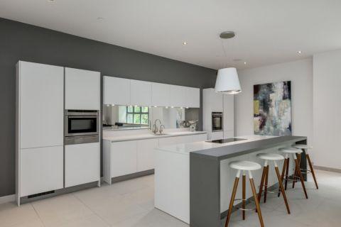 厨房现代风格效果图大全2017图片_土拨鼠优雅写意厨房现代风格装修设计效果图欣赏