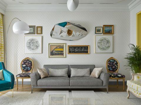 客厅混搭风格效果图大全2017图片_土拨鼠现代自然客厅混搭风格装修设计效果图欣赏