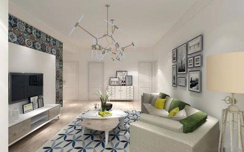 纺织苑122平米北欧风格三居室装修效果图