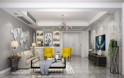 150平米后现代风格三室两厅两卫一厨装修效果图