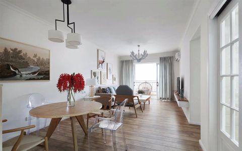 2018简约90平米效果图 2018简约三居室装修设计图片