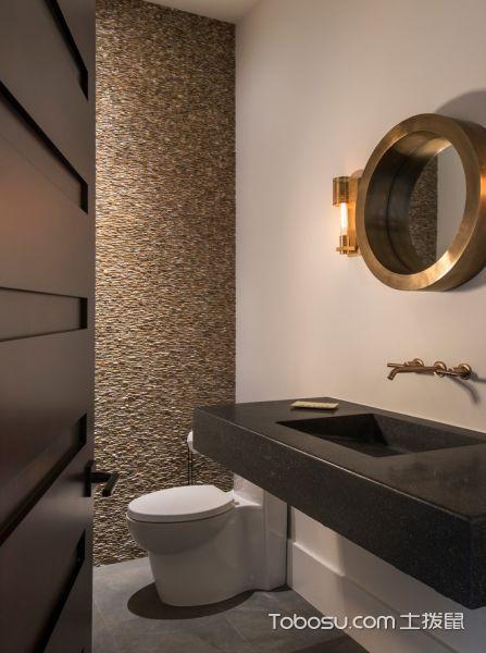 卫生间黑色洗漱台现代风格装潢图片