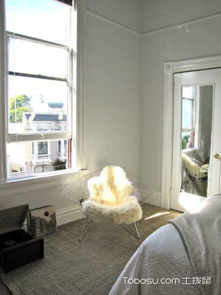 卧室白色窗台现代风格装饰设计图片