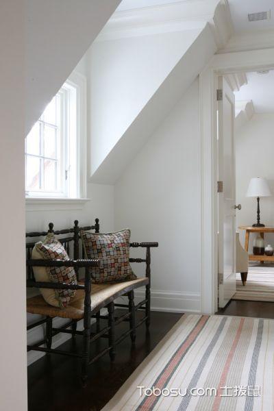 卧室咖啡色沙发美式风格效果图