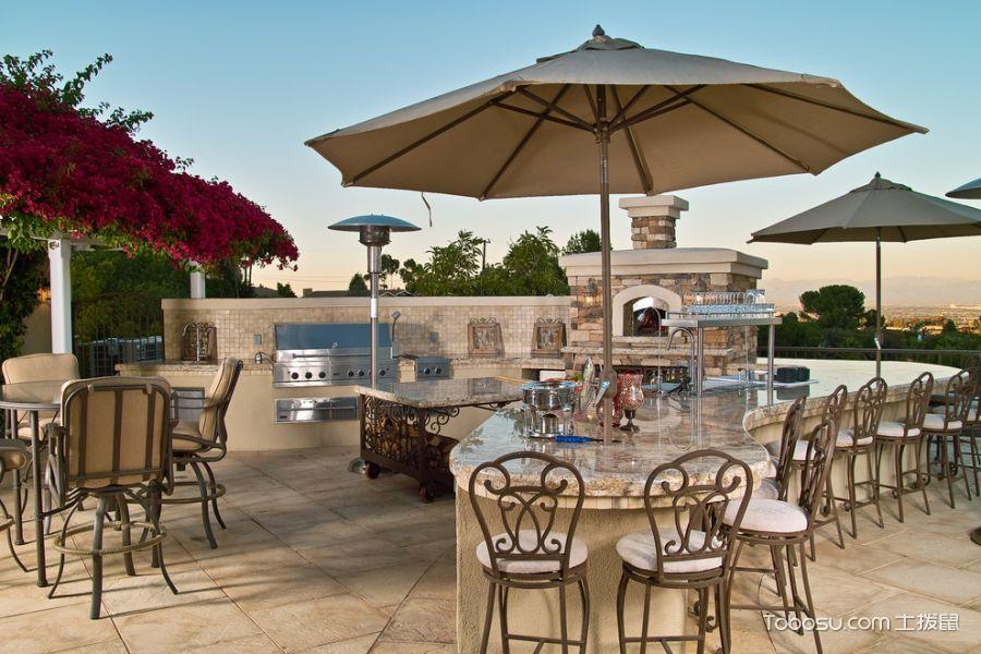 阳台米色地砖地中海风格装潢设计图片
