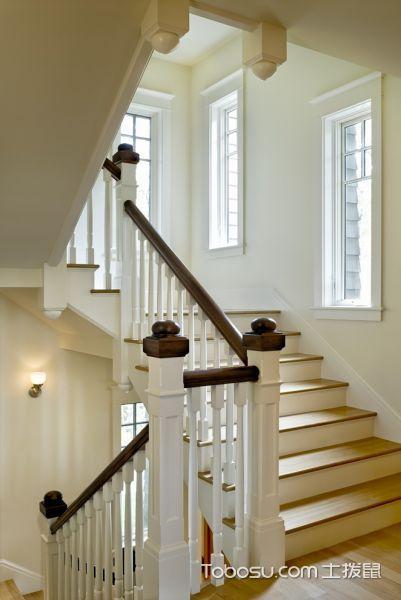 楼梯美式风格效果图大全2017图片