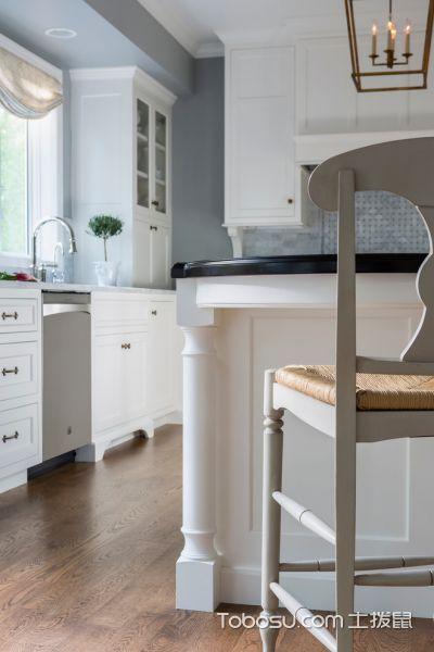 2019美式厨房装修图 2019美式地板砖装修设计图片