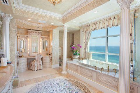 浴室欧式风格效果图大全2017图片_土拨鼠潮流纯净浴室欧式风格装修设计效果图欣赏