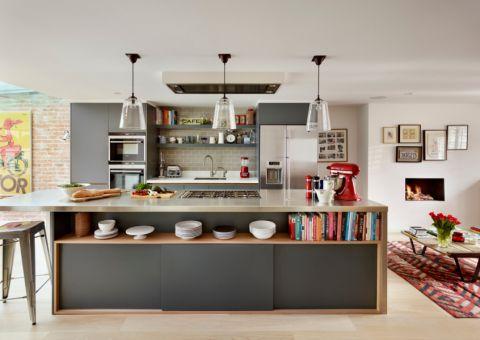 厨房现代风格效果图大全2017图片_土拨鼠简洁质朴厨房现代风格装修设计效果图欣赏