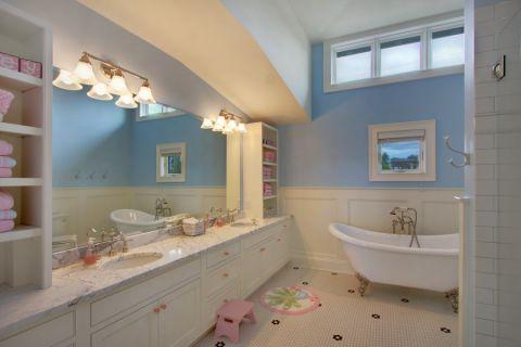 浴室美式风格效果图大全2017图片_土拨鼠大气奢华浴室美式风格装修设计效果图欣赏