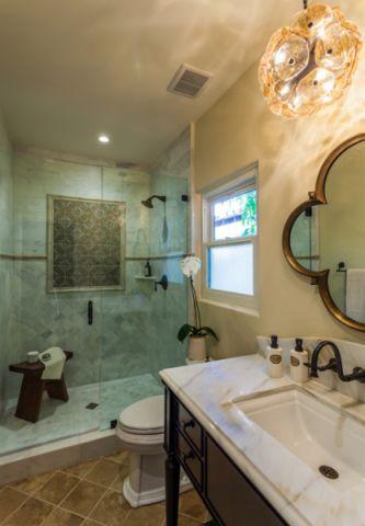 浴室混搭风格效果图大全2017图片_土拨鼠美好摩登浴室混搭风格装修设计效果图欣赏