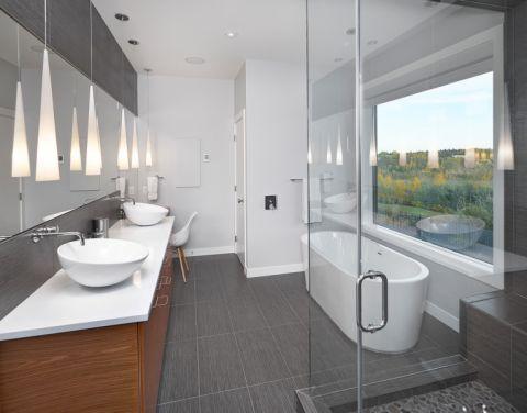 浴室现代风格效果图大全2017图片_土拨鼠美感舒适浴室现代风格装修设计效果图欣赏