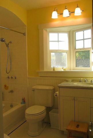 浴室窗台美式风格装修图片
