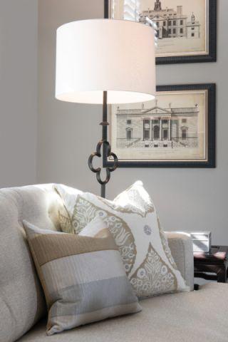 客厅细节美式风格装潢效果图