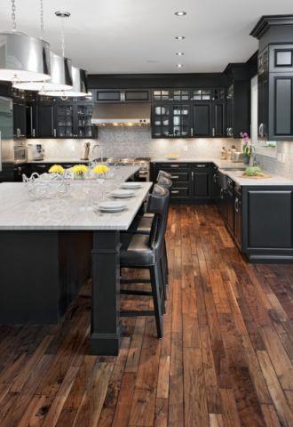 厨房走廊美式风格装修设计图片