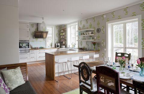 厨房混搭风格效果图大全2017图片_土拨鼠现代写意厨房混搭风格装修设计效果图欣赏