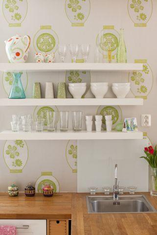 厨房背景墙混搭风格装饰效果图