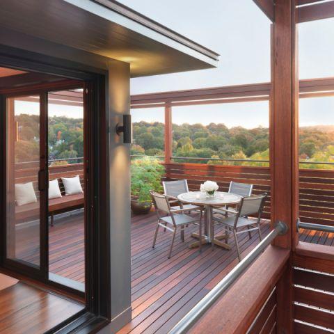 阳台地板砖现代风格装修设计图片