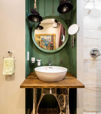 浴室混搭风格效果图大全2017图片_土拨鼠休闲迷人浴室混搭风格装修设计效果图欣赏