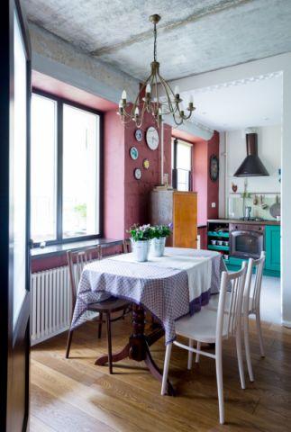 餐厅吊顶混搭风格装饰图片