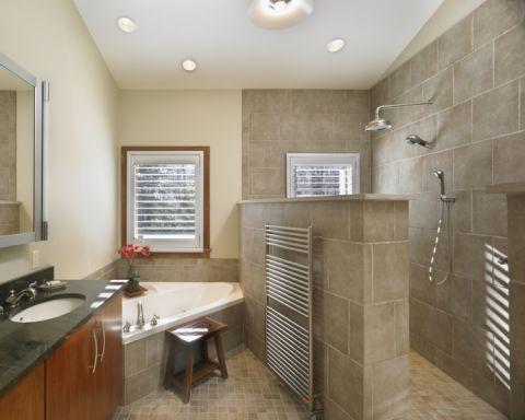 浴室背景墙现代风格装修设计图片