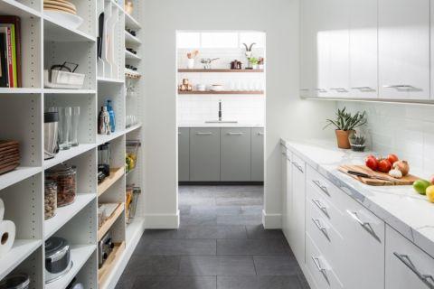 厨房现代风格效果图大全2017图片_土拨鼠清爽纯净厨房现代风格装修设计效果图欣赏