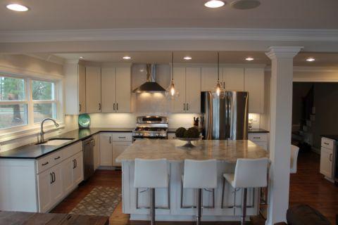 厨房现代风格效果图大全2017图片_土拨鼠精致清新厨房现代风格装修设计效果图欣赏