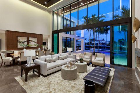 客厅现代风格效果图大全2017图片_土拨鼠个性风雅客厅现代风格装修设计效果图欣赏