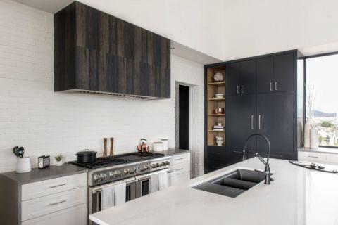 厨房现代风格效果图大全2017图片_土拨鼠精致个性厨房现代风格装修设计效果图欣赏