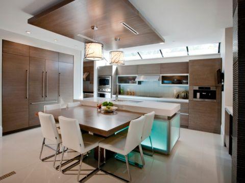厨房现代风格效果图大全2017图片_土拨鼠优雅温馨厨房现代风格装修设计效果图欣赏